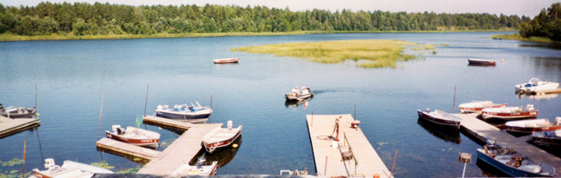 McArdle's Resort on Lake Winnibigisohish has full-time dock attendants