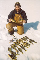 Jumbp perch fishing on Lake Winnie